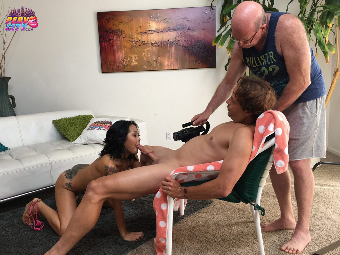 Saya Song Sexy and Sloppy Blowjob BTS