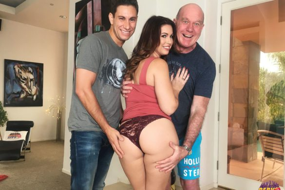 Edyn Blair, Brad Knight, PervCity, Banging Beauty, Brunette, PAWG, big ass, big dick, shaved pussy, big tits, natural tits, selfies, bts