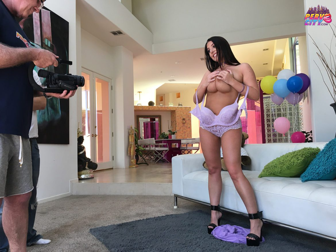 Angela White Behind the Scenes at PervCity