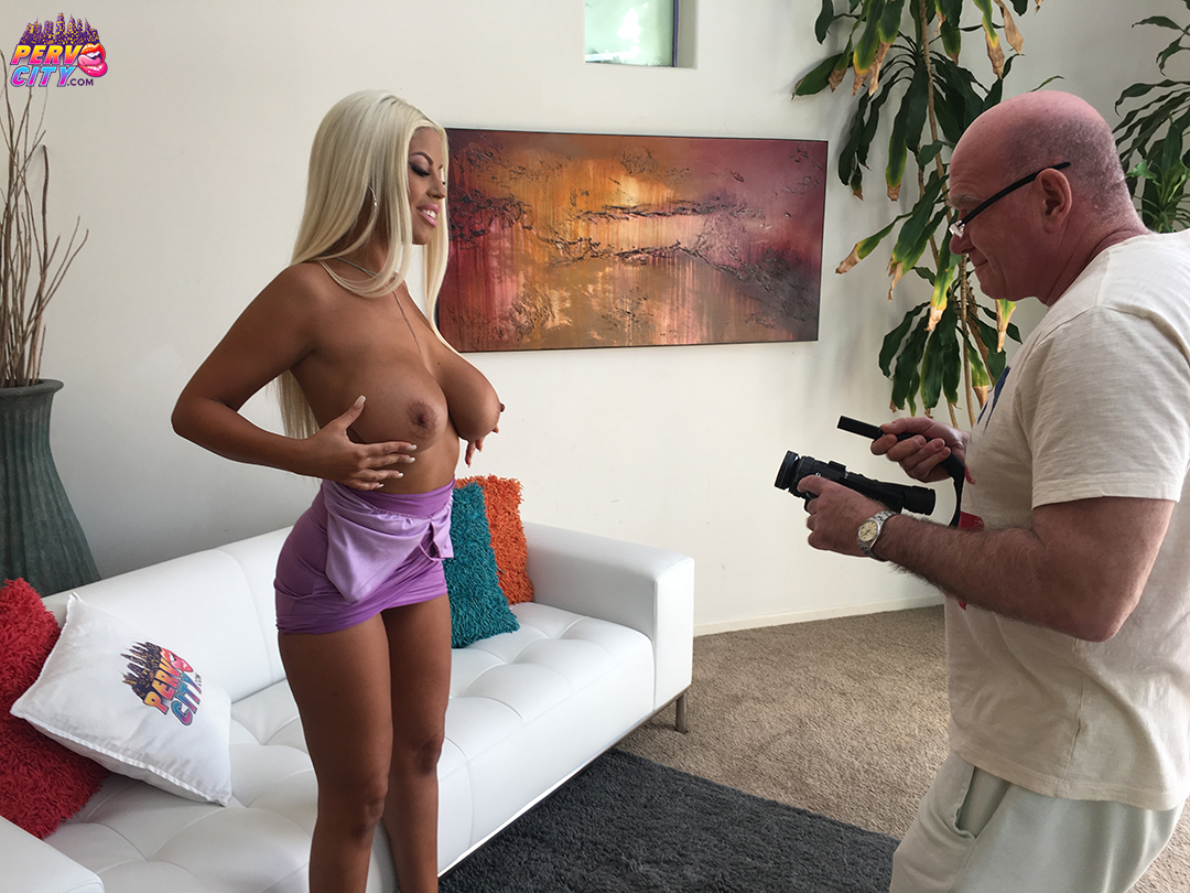 BTS with Sexy Pornstar Bridgette B