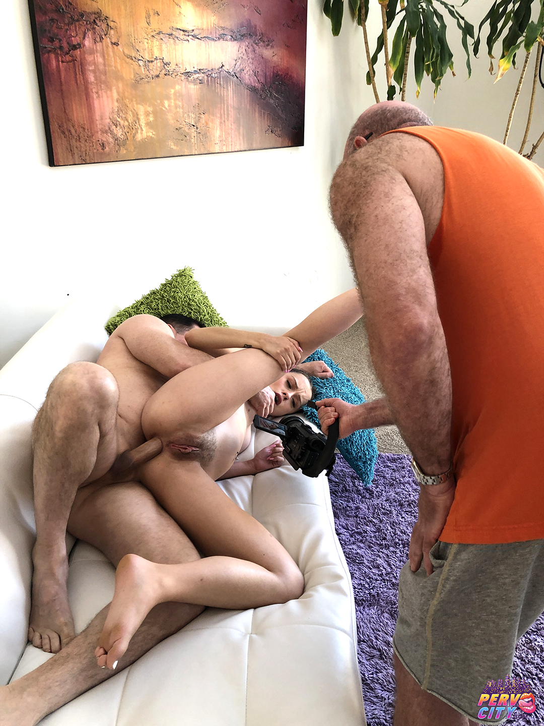 Lily Glee First Anal Creampie Behind the Scenes